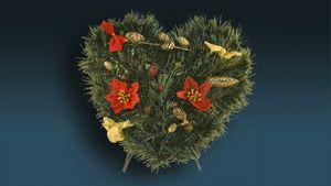 Świąteczna dekoracja nagrobna w kształcie serca (duża) miniaturka