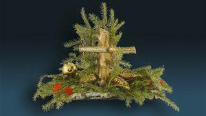 Świąteczny stroik nagrobny (duży) miniaturka