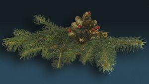 Świąteczna dekoracja na grób miniaturka